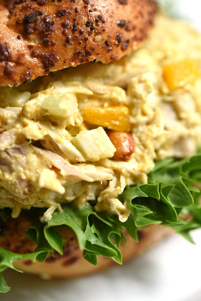 Mango Cashew Curried Chicken Salad