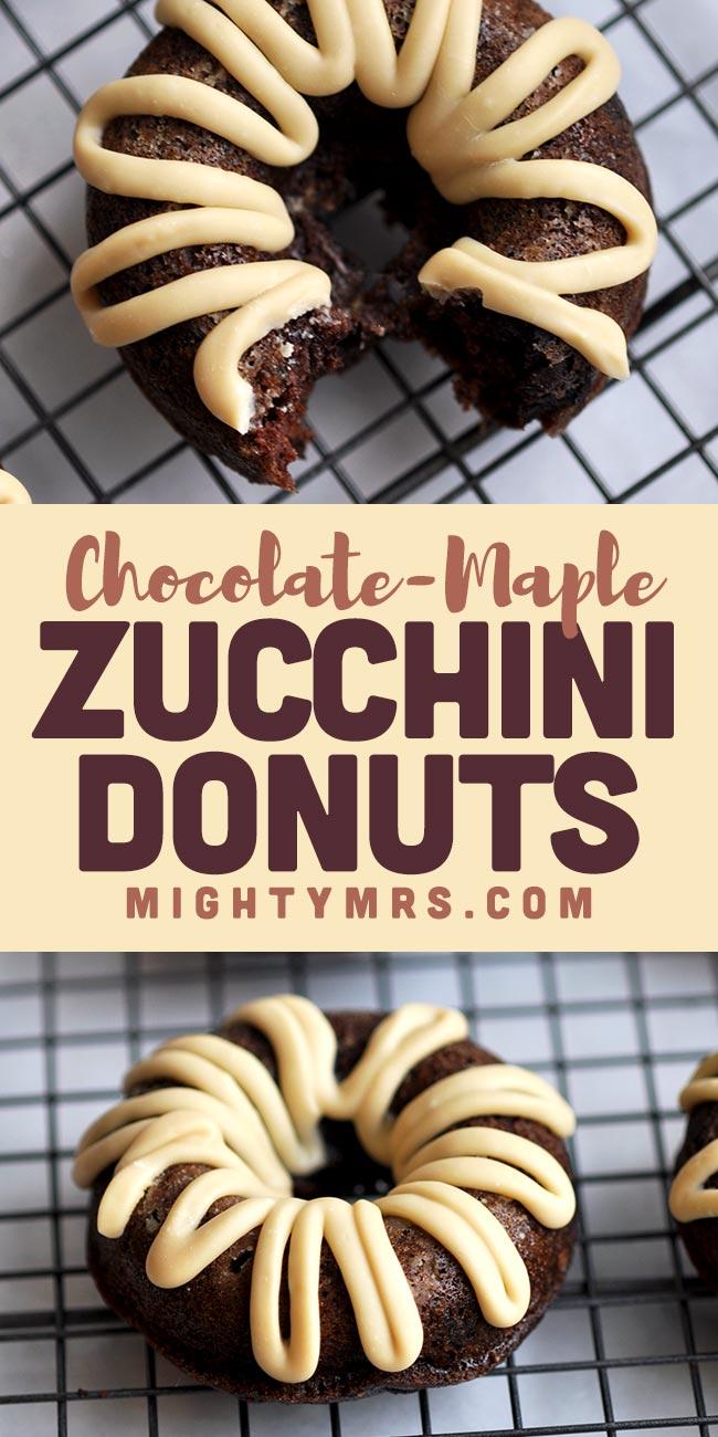 Maple Chocolate Zucchini Donut