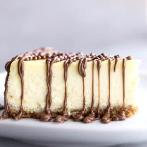 Italian Mascarpone Ricotta Cheesecake with Nutella