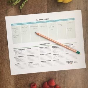 Printable Meal Planner with Grocery List