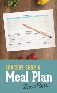Meal Planner and Grocery List Printable