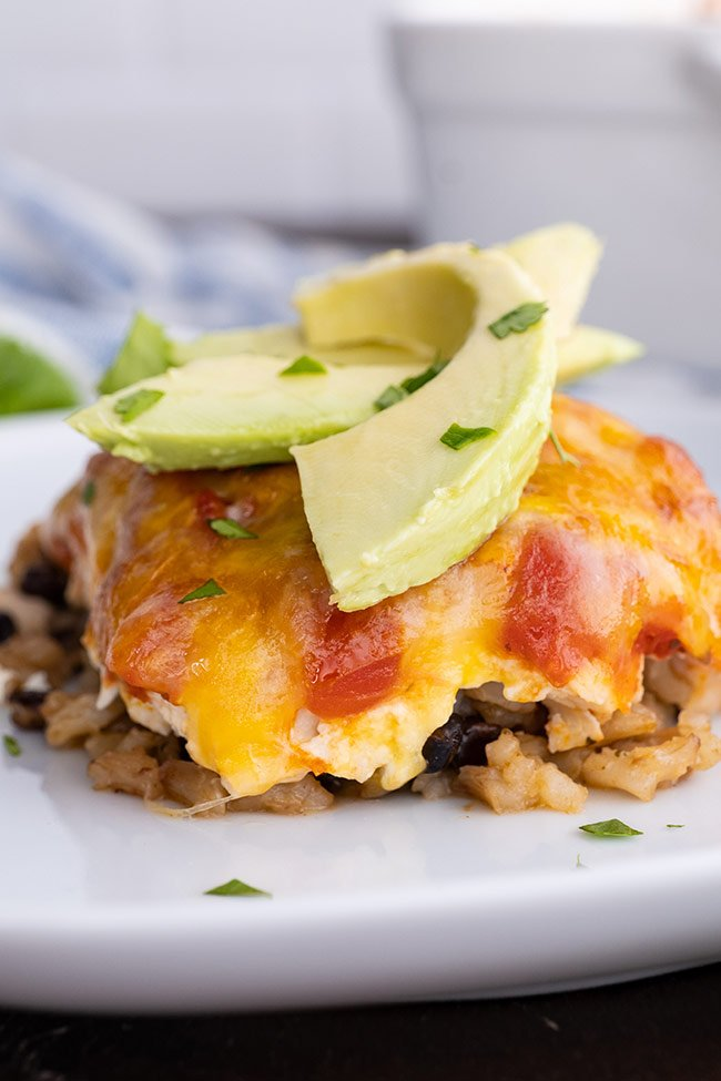 Chicken Tortila Casserole with Avocado