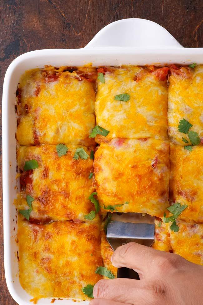 5-Ingredient Layered Chicken Tortilla Casserole