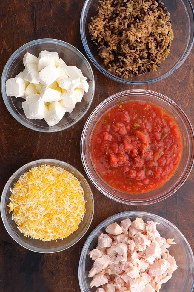 Chicken Tortilla Bake Ingredients