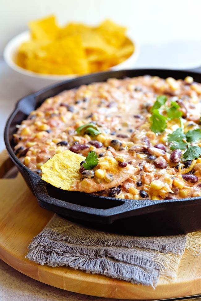 Easy Mexican Hot Bean Dip