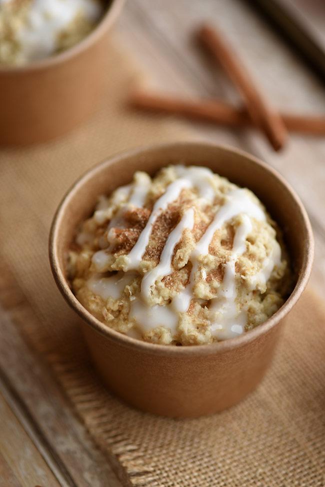 One-Minute Apple Cinnamon Muffins