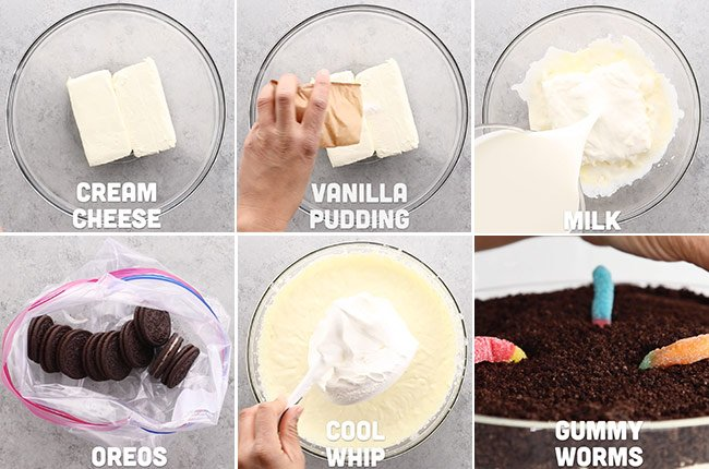 Oreo Dirt Dessert Ingredients