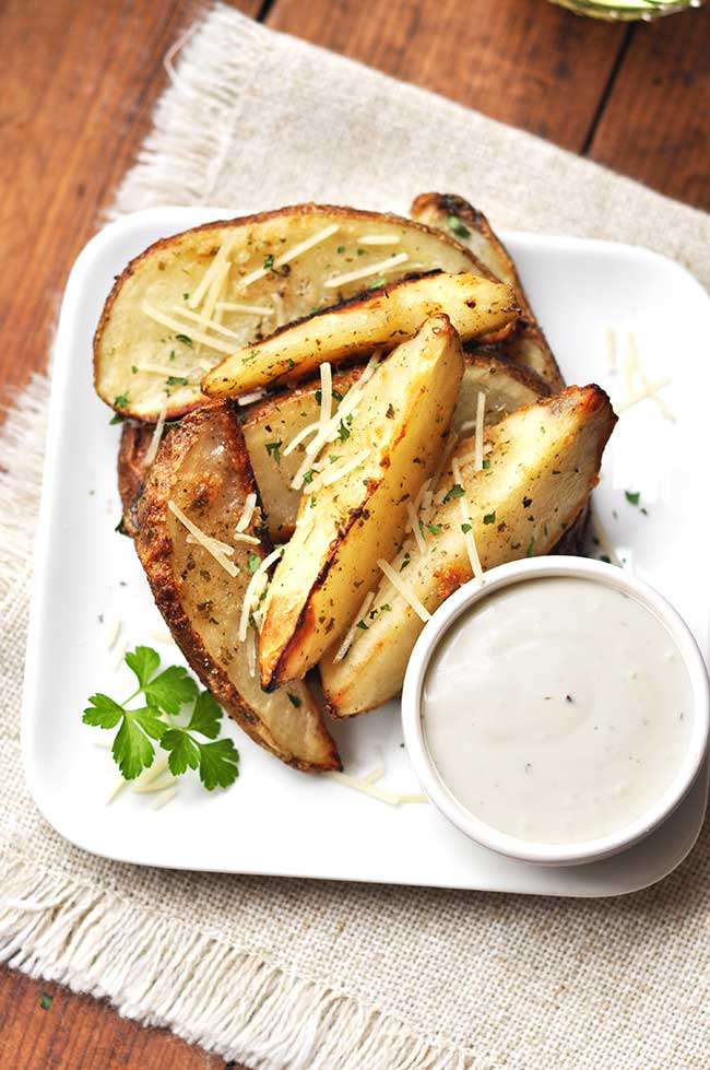 Baked Parmesan Ranch Potato Wedges