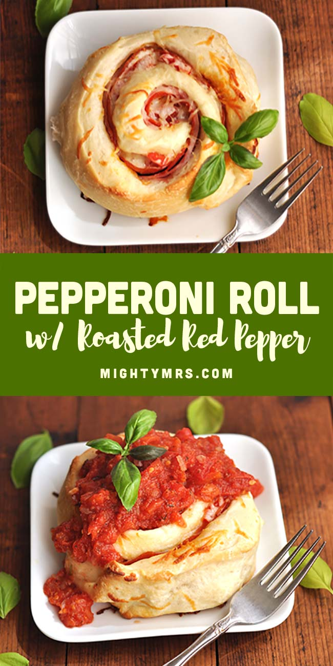 Pepperoni Roll with Roasted Red Pepper
