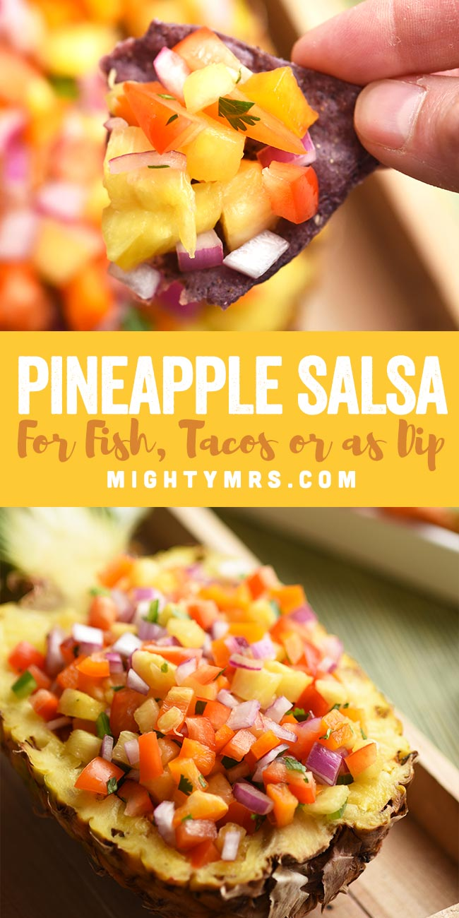 Pineapple Salsa for fish, tacos, or dip