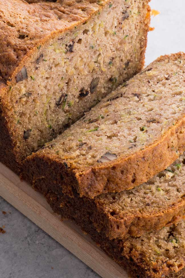 Pineapple Zucchini Bread with walnuts