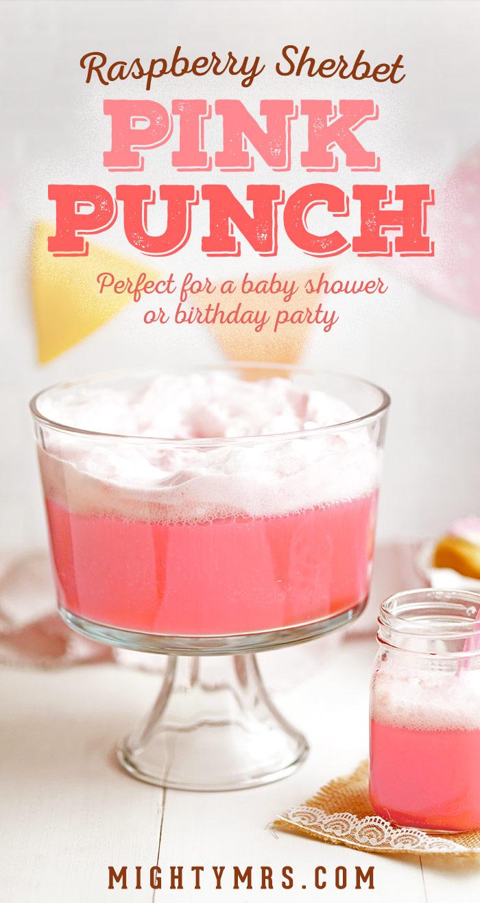Raspberry Sherbet Pink Punch