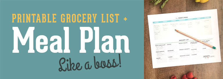 Printable Meal Planner and Grocery List