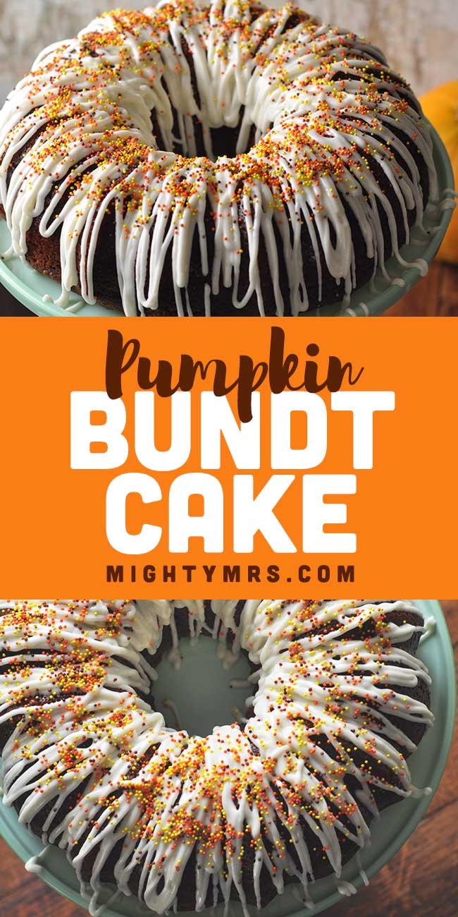 Pumpkin Bundt Cake with Cream Cheese Icing