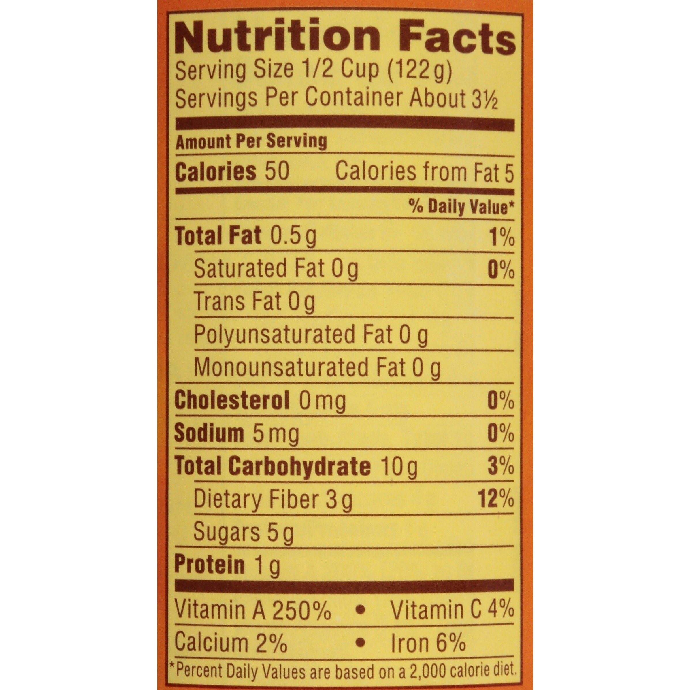 Pumpkin Puree Nutrition Facts