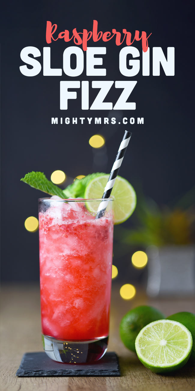 Raspberry Sloe Gin Fizz