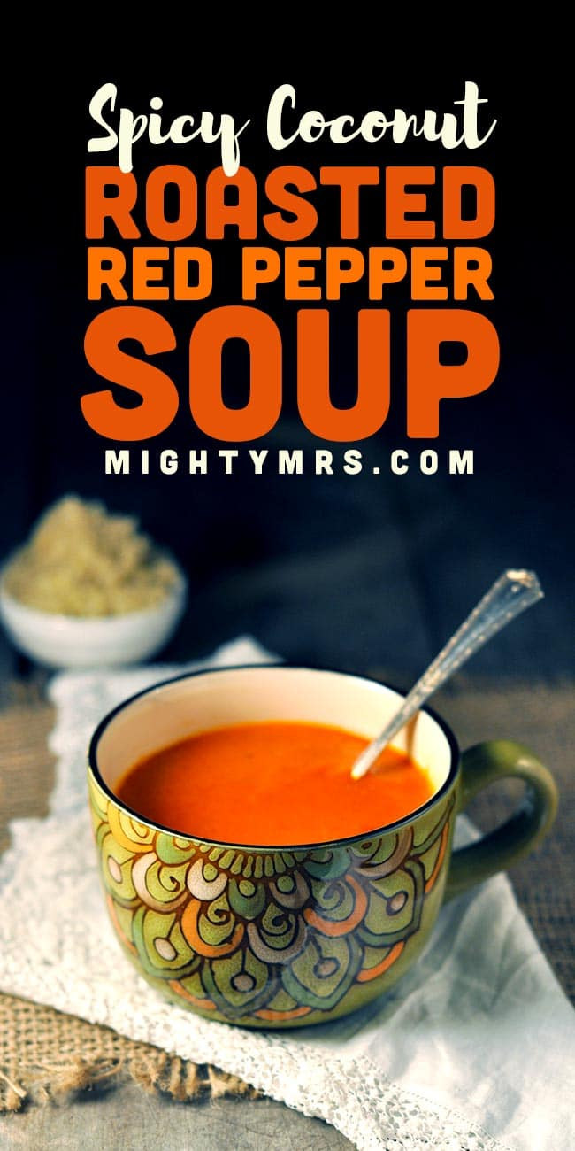 Spicy Coconut Roasted Red Pepper Soup