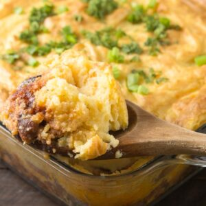 Easy Shepherd's Pie with Ground Turkey and Beef
