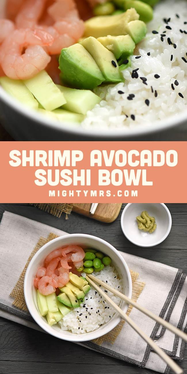 Shrimp Avocado Sushi Bowl