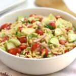 Cucumber Tomato Orzo Salad