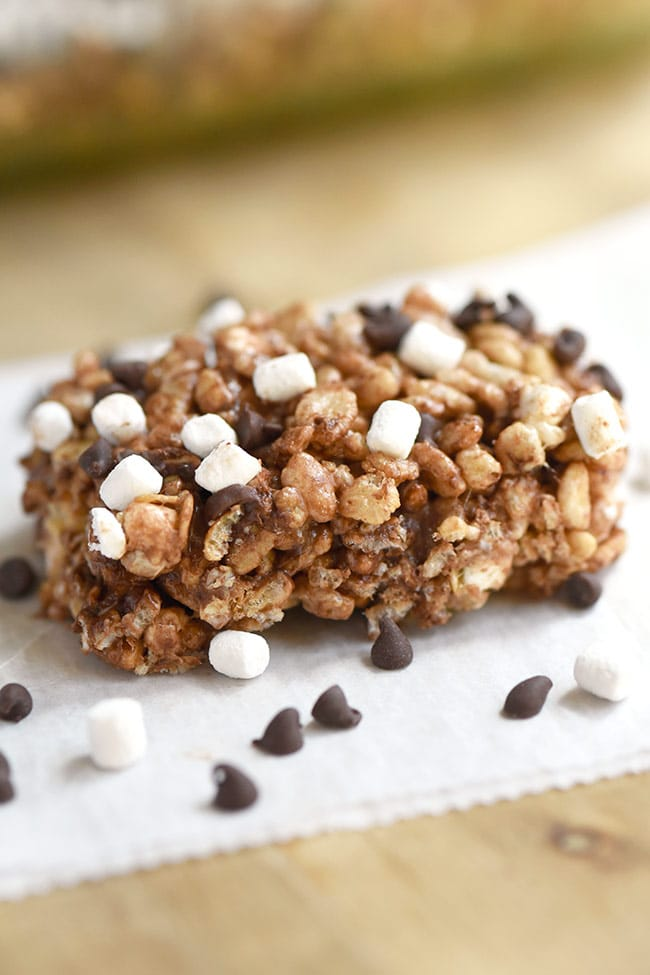 S'mores Rice Crispy & Oatmeal Treats