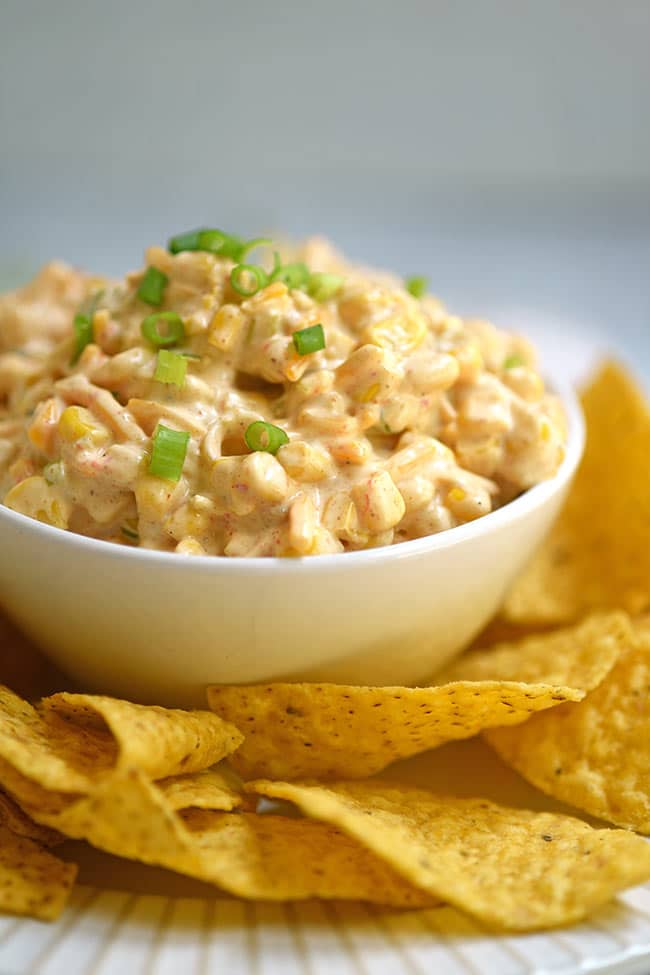 Southwest Corn Dip and Chips