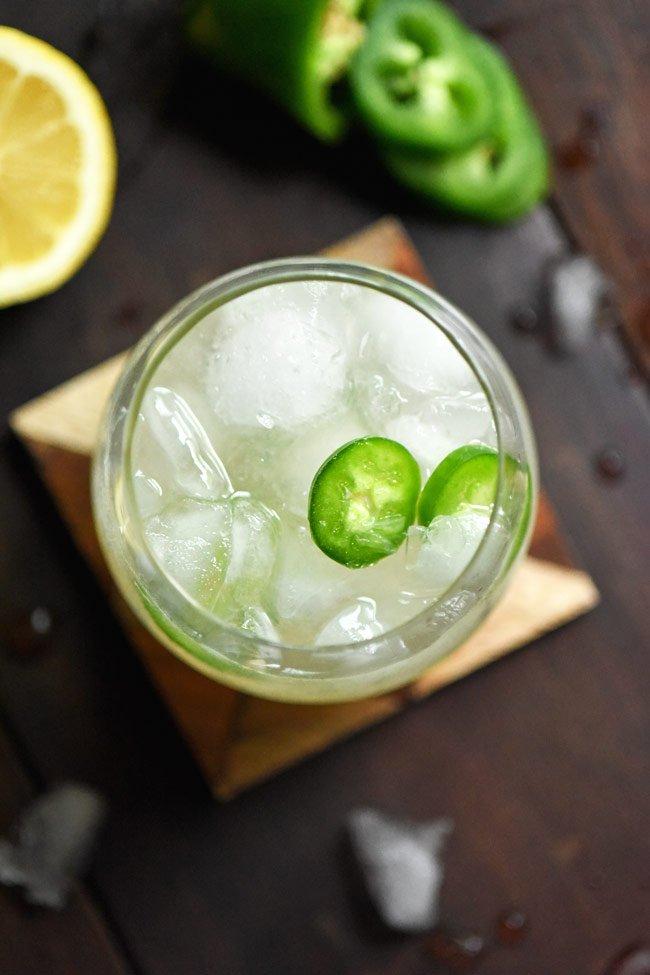 Spicy Mule with Jalapeño