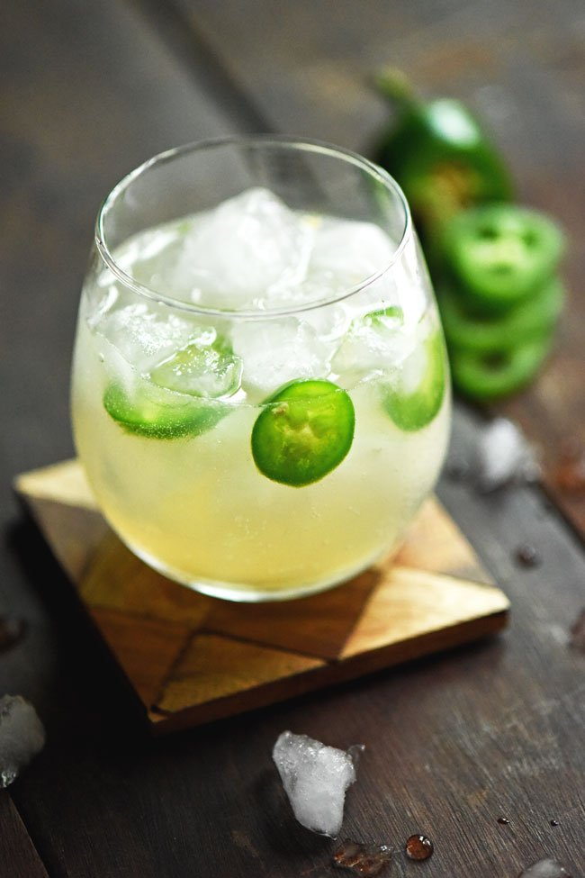 Spicy Mule Mocktail in lowball glass