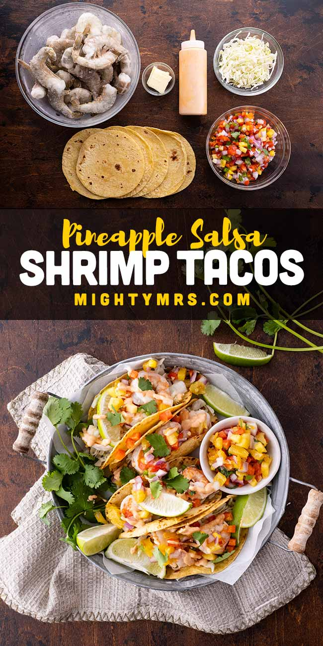 Easy Spicy Shrimp Tacos with Pineapple Salsa