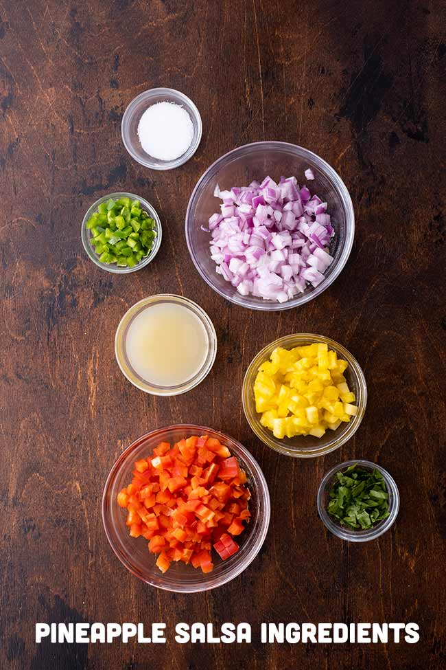 Ingredients for Pineapple Salsa
