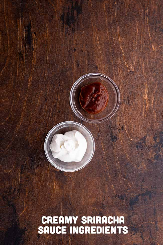 Ingredients for Creamy Sriracha Taco Sauce