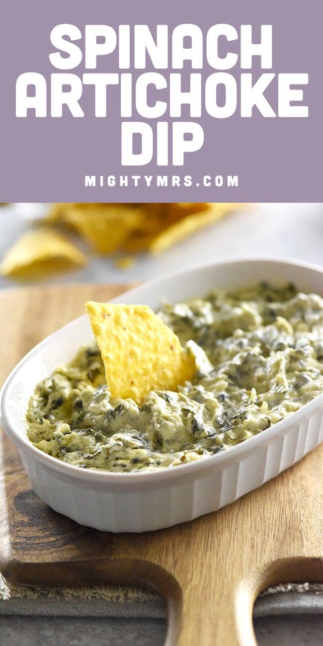 Easy Crockpot Spinach Artichoke Dip