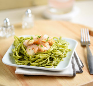 Shrimp and Chicken Pesto Pasta