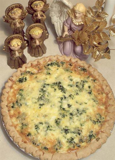 Heavenly Spinach & Feta Quiche