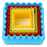 Square Cookie Cutter with Scalloped Edges