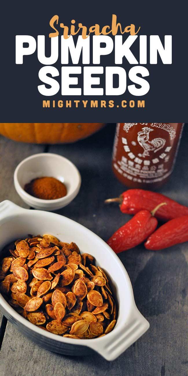 Spicy Sriracha Pumpkin Seeds