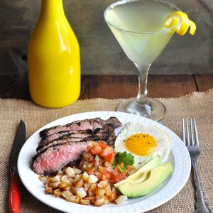 Brunch Ideas Series: Steak and Eggs Rancheros with Lemontini