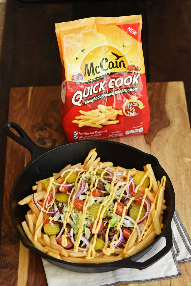 Loaded Cheeseburger McCain® Quick Cook Straight Cut Fries