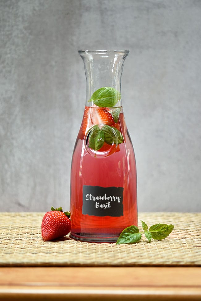 Easy Strawberry Basil Agua Fresca