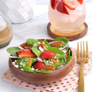 Strawberry Spinach Salad with Maple Glazed Pecans