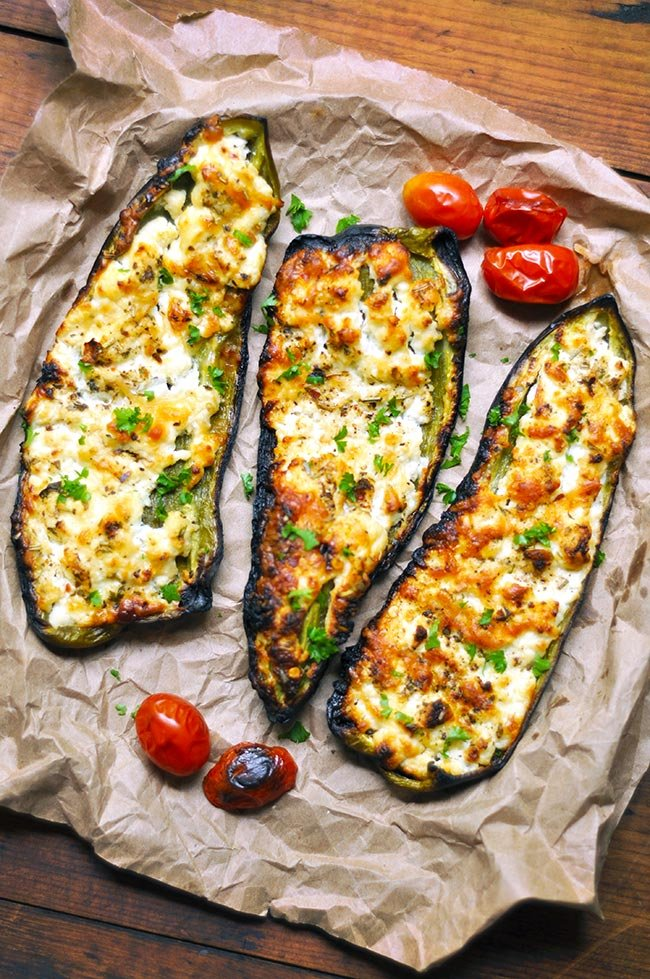 Grilled Giant Marconi Stuffed Peppers