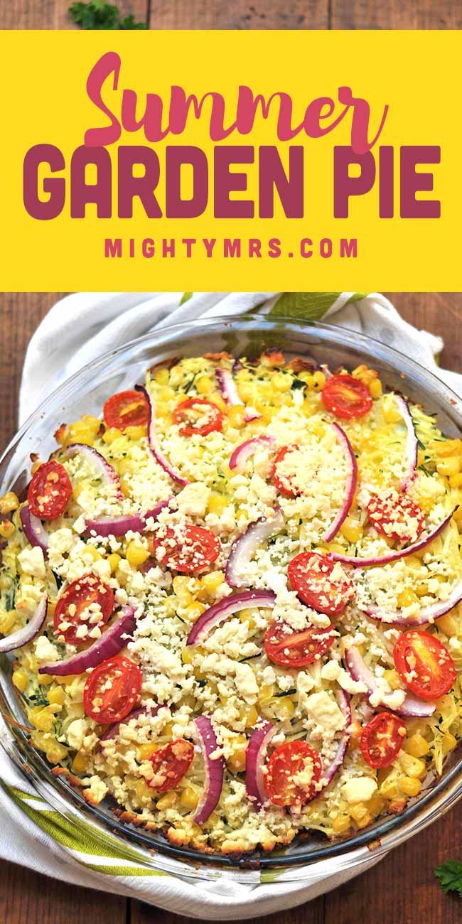 Summer Garden Pie (Zucchini, Corn, Tomatoes, Feta)