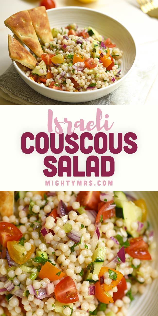 Israeli Couscous Salad Mighty Mrs