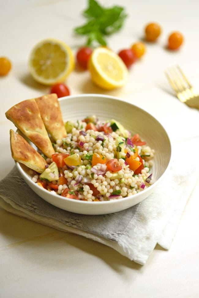 Israeli Couscous Salad with Pearl Couscous