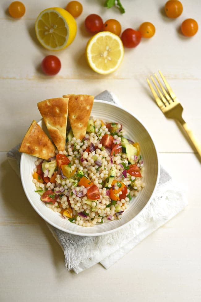 Israeli Couscous Salad - Summer Side Dish