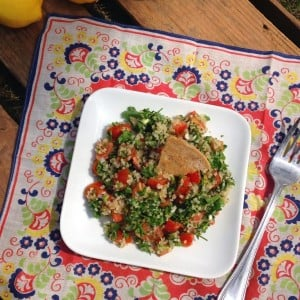 Tabbouleh with Baked Pita Chips