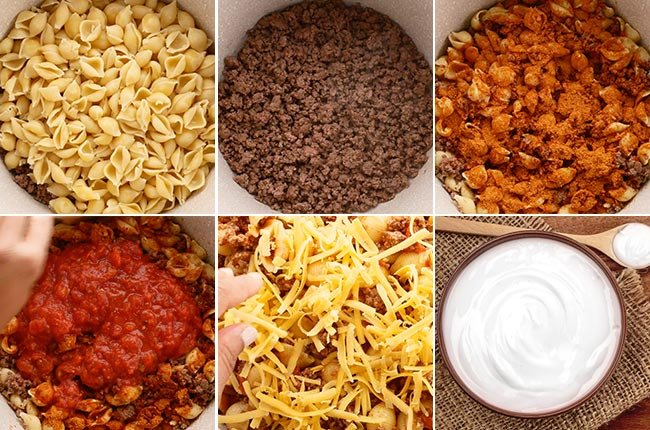 Taco Pasta Casserole Ingredients