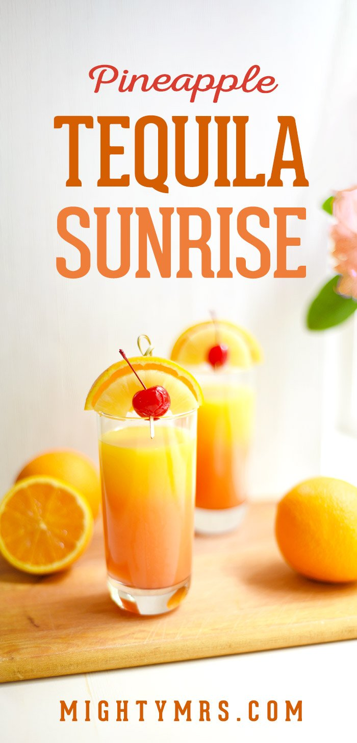Pineapple Tequila Sunrise