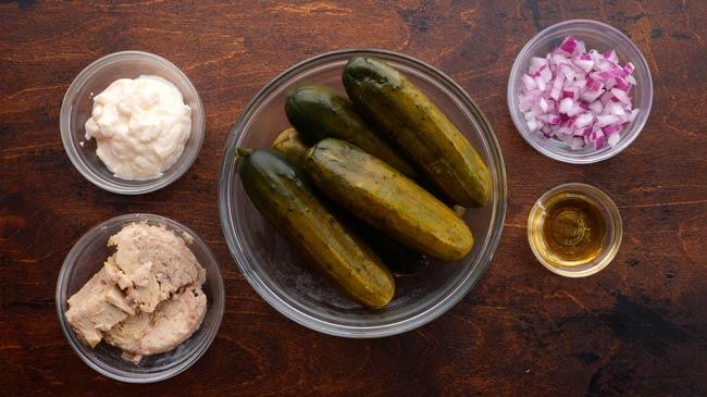 Tuna Pickle Boat Ingredients