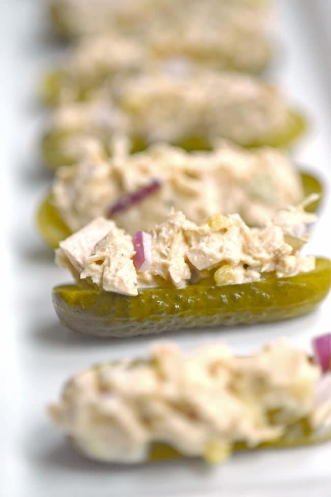 Tuna Salad Stuffed Pickles